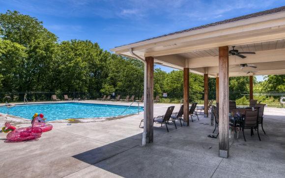 private pool at Woodland Creek